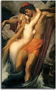 Reprodukcia Frederic Leighton - The Fisherman and the Syren zs16736