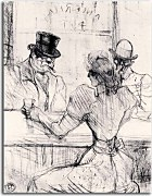 Obrazy Henri de Toulouse-Lautrec  - At the Bar Picton, Rue Scribe zs16824