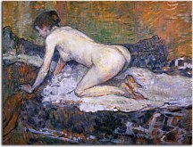 Crouching Woman with Red Hair zs16833
