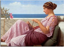 Obrazy John William Godward - A Souvenir zs16883