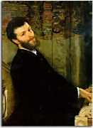 Lawrence Alma-Tadema - Portrait of the Singer George Henschel zs16977