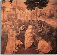Obraz Leonardo da Vinci - The Adoration of the Magi zs17013