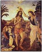 Reprodukcie Leonardo da Vinci - The Baptism of Christ zs17014