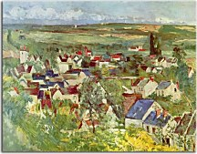 Obrazy Reprodukcie - Paul Cézanne - View of Auvers  zs17034