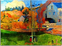 Paul Gauguin Obrazy  - A breton landscape, David's mill zs17037