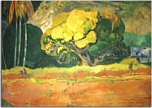 Paul Gauguin Obraz - At the Foot of the Mountain zs17049