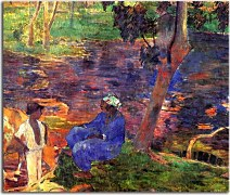 Paul Gauguin Obraz - At the pond zs17050