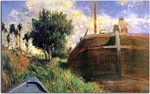 Paul Gauguin Obraz - Blue Barge zs17060