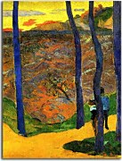 Blue trees - Paul Gauguin Obraz zs17061