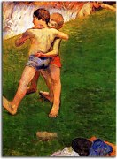 Breton Boys Wrestling Paul Gauguin Obraz zs17068