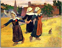 Breton girls dancing Paul Gauguin Obraz zs17070