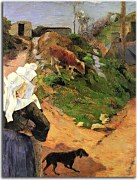Breton Women at the Turn Paul Gauguin Obraz  zs17074