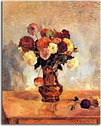 Paul Gauguin Obraz Dahlias in a copper vase zs17094