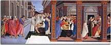 Botticelli obraz - Baptism of St Zenobius and His Appointment as Bishop zs17298