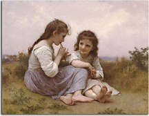 William-Adolphe Bouguereau - A Childhood Idyll zs17313