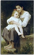 William-Adolphe Bouguereau - Big Sister zs17334