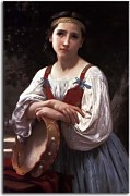 Gypsy Girl with a Basque Drum zs17361 - Obraz