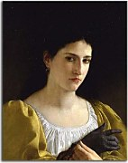 Lady with Glove zs17383