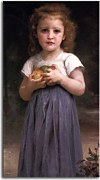 Little Girl Holding Apples in Her Hands zs17393