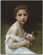 Little Girl with a Bouquet zs17394