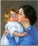 Obrazy Mary Cassatt - A Kiss For Baby Anne zs17521