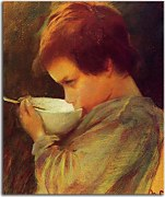 Reprodukcie Mary Cassatt - Child Drinking Milk zs17526