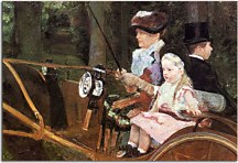 A woman and child in the driving seat zs17533
