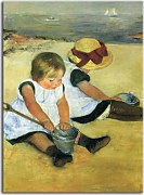Children Playing On The Beach zs17545