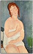 Obrazy Amedeo Modigliani - Young Woman in a Shirt  zs17651