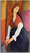 Jeanne Hebuterne in Red Shawl Obraz zs17672