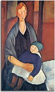 Seated Woman with Child Obraz Modigliani zs17676