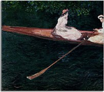 Boating on the River Epte Reprodukcia Claude Monet zs17708