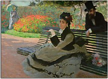 Camille Monet on a Garden Bench - Obraz zs17718