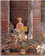 Camille Monet at the Window Obraz zs17719