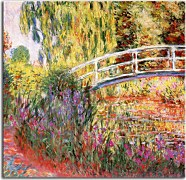 The Japanese Bridge, Water Irises Obraz Monet  zs17751