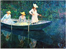 In the Norvegienne Boat at Giverny zs17859