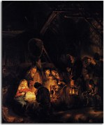 Obraz Rembrandt - Adoration of the Shepherds zs18020