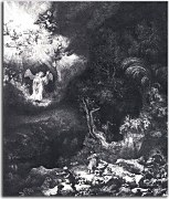 The angel appearing to the shepherds - Reprodukcia Rembrandt - zs18025