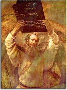 Moses Smashing the Tablets of the Law - Reprodukcia Rembrandt - zs18036