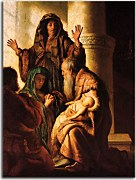 Presentation in the Temple - Reprodukcia Rembrandt - zs18041