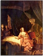 Joseph Accused by Potiphar's Wife - Reprodukcia Rembrandt - zs18042