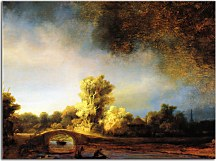 Reprodukcia Rembrandt - The Stone Bridge zs18048