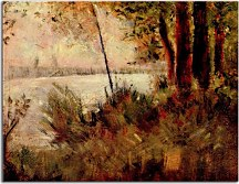 Grassy Riverbank Georges Seurat Reprodukcia zs18154