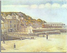Reprodukcia Georges Seurat - The Harbour and the Quays at Port-en-Bessin zs18155