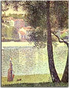 Reprodukcia Georges Seurat - The Seine at Courbevoie zs18160