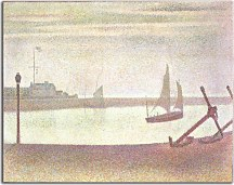 Georges Seurat Obraz - The Channel at Gravelines, Evening zs18161