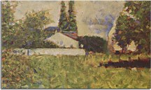 Georges Seurat Obraz - A house between trees zs18163