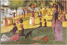 Georges Seurat Obraz - Sketch with Many Figures for Sunday Afternoon on Grande Jatte zs18164