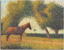 Horse and cart - Georges Seurat Obraz zs18170