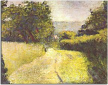 Reprodukcia Georges Seurat - The Hollow Way zs18172